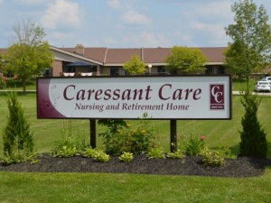 Caressant Care sign outside of Arthur Retirement Home