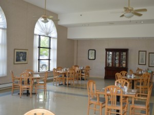 Cobden retirement home dining hall