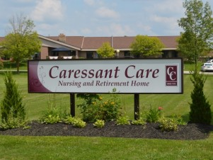 Caressant Care sign outside of retirement home