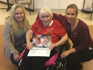 Caressant Care Residents Model for Calendar Fundraiser